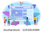 video blogging concept. small... | Shutterstock .eps vector #1241814484