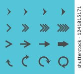 set with different arrows icon  ... | Shutterstock .eps vector #1241815171