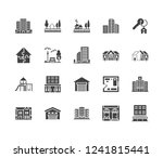 real estate flat glyph icons... | Shutterstock .eps vector #1241815441