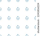 muffin pattern repeat seamless...   Shutterstock .eps vector #1241816224