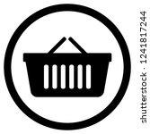 shopping bag supermarket for... | Shutterstock . vector #1241817244