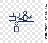consulting icon. trendy linear... | Shutterstock .eps vector #1241820067