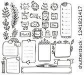 bullet journal hand drawn...   Shutterstock .eps vector #1241821417