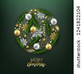 merry christmas happy new year... | Shutterstock .eps vector #1241822104