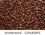 coffee beans texture background - stock photo