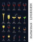 wine glass vector winery... | Shutterstock .eps vector #1241831854
