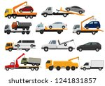 tow truck vector towing car... | Shutterstock .eps vector #1241831857