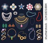jewelry vector jewellery gold... | Shutterstock .eps vector #1241831884