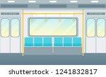 cartoon empty subway train card ... | Shutterstock .eps vector #1241832817