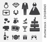 wedding icons | Shutterstock .eps vector #124184065