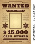 wanted poster. old distressed... | Shutterstock .eps vector #1241854504