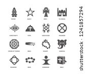 bible  pope  taoism  bah    ... | Shutterstock .eps vector #1241857294