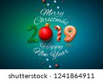 merry christmas and happy new... | Shutterstock .eps vector #1241864911
