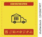 automobile icon vector | Shutterstock .eps vector #1241867497
