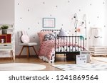 cozy pastel pink woolen blanket ... | Shutterstock . vector #1241869564