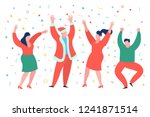 funny mini business people... | Shutterstock .eps vector #1241871514