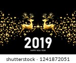 2019  happy new year  golden ... | Shutterstock .eps vector #1241872051