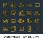set of checkmark vector line... | Shutterstock .eps vector #1241872291