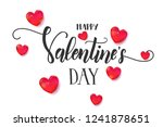 valentine's day background with ... | Shutterstock .eps vector #1241878651