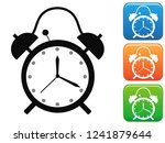 alarm clock icon buttons set | Shutterstock .eps vector #1241879644