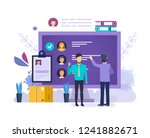 choose candidate for vacancy... | Shutterstock .eps vector #1241882671