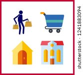 4 purchase icon. vector... | Shutterstock .eps vector #1241883094