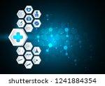 blue abstract symbol medical... | Shutterstock . vector #1241884354