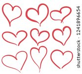 hand drawn hearts set for... | Shutterstock .eps vector #1241896654