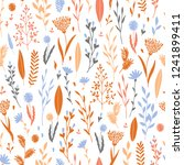 vector hand drawn floral... | Shutterstock .eps vector #1241899411