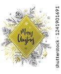 calligraphy inscription merry... | Shutterstock .eps vector #1241901691