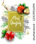 christmas greeting vector card... | Shutterstock .eps vector #1241901694