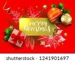 christmas greeting vector card... | Shutterstock .eps vector #1241901697