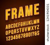 vector 3d alphabet font with...   Shutterstock .eps vector #1241904031