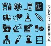medical icons for design  ... | Shutterstock .eps vector #124190407