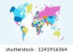 color world map vector | Shutterstock .eps vector #1241916364