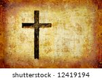 glowing black cross. | Shutterstock . vector #12419194