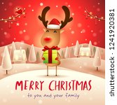 merry christmas  the red nosed... | Shutterstock .eps vector #1241920381