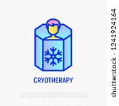 cryotherapy thin line icon  man ...   Shutterstock .eps vector #1241924164
