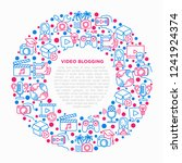 video blogging concept in... | Shutterstock .eps vector #1241924374