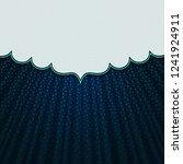 beautiful frame on a dark blue... | Shutterstock .eps vector #1241924911