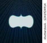beautiful frame on a dark blue... | Shutterstock .eps vector #1241924914