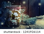 christmas background with tasty ...   Shutterstock . vector #1241926114
