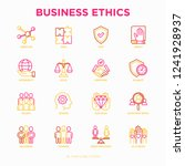 business ethics thin line icons ... | Shutterstock .eps vector #1241928937