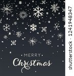 snowflake holiday  christmas...   Shutterstock .eps vector #1241948347