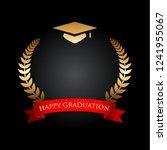 top view of gold graduation hat ... | Shutterstock .eps vector #1241955067