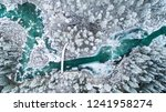 mountain river in winter.... | Shutterstock . vector #1241958274