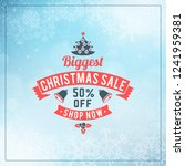 christmas sale poster design.... | Shutterstock .eps vector #1241959381