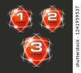 set shield text guarantee one ... | Shutterstock .eps vector #1241959537