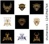 set of deer hunt logo template  ... | Shutterstock .eps vector #1241966764