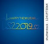 creative new year 2019 poster... | Shutterstock .eps vector #1241973064